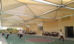 مظلات المدارس بولي ايثيلين