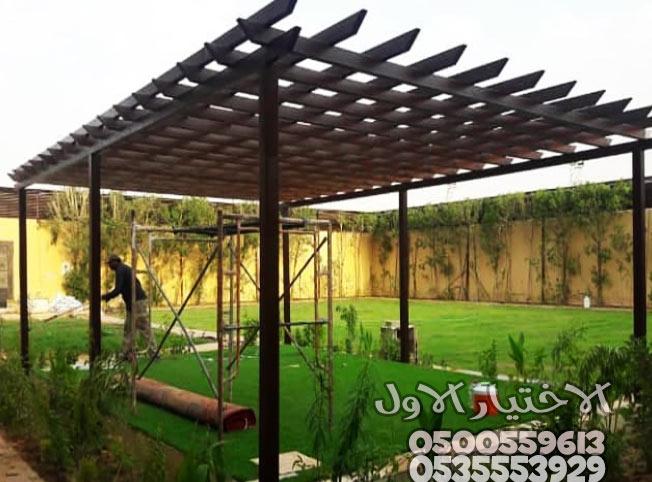 مظلات حدائق خشبية بالرياض