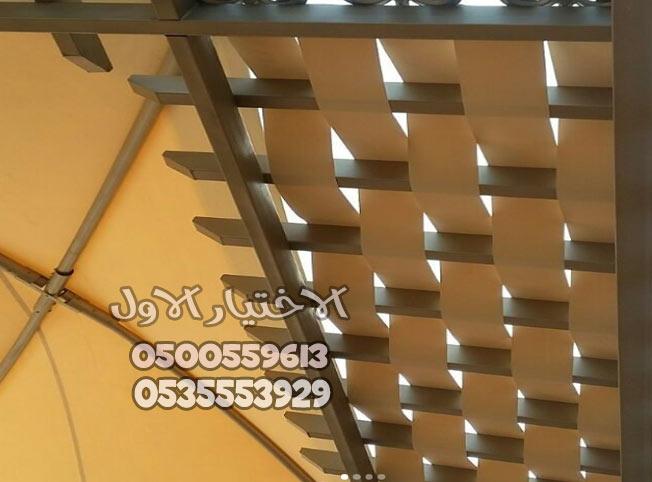 برجولات خشبية للاسطح