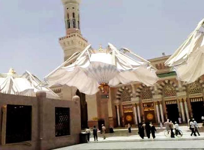 مظلات المسجد النبوي أثناء الفتح