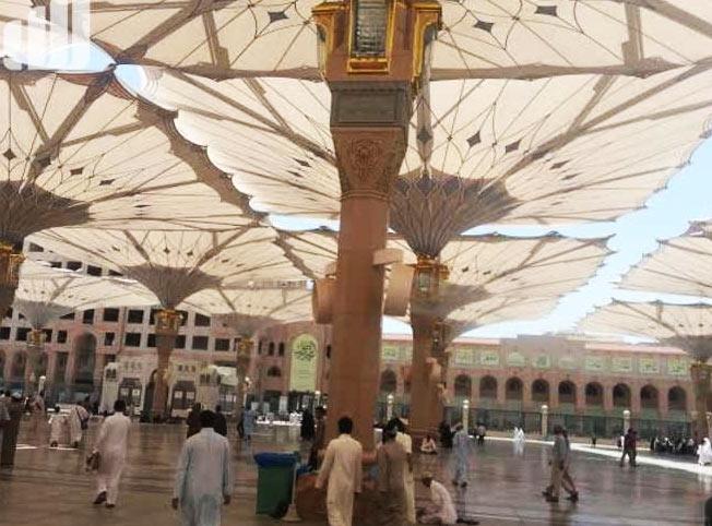 مظلات المسجد النبوي بمواصفات عالمية