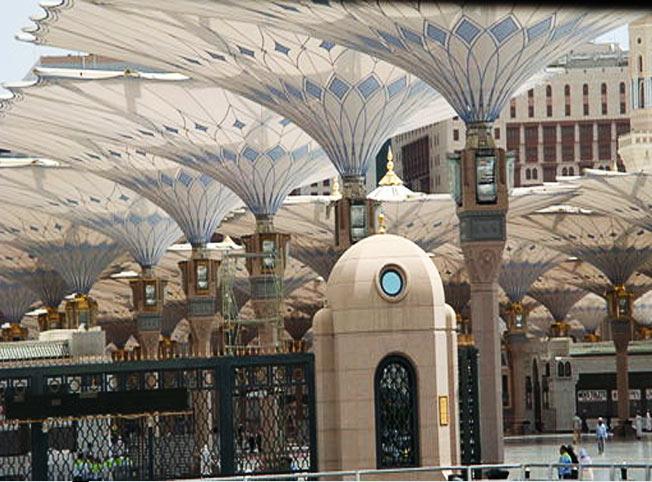 مظلات المسجد النبوي