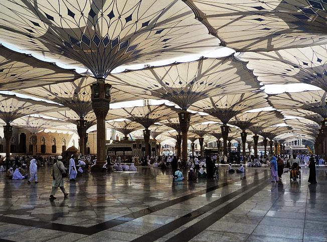 مواصفات مظلات المسجد النبوي