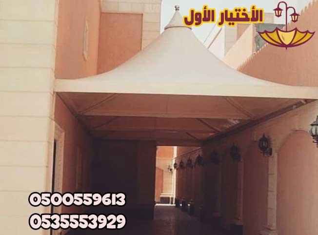 مظلات ممرات مظلات مداخل فنادق برجولات خشبية للممرات0500559613